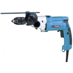 Taladro percutor 720w reversible sin llave maletin 13 mm hp2051 makita