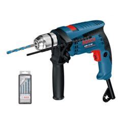 Taladro percutor 600w reversible sin llave maletin 13 mm gsb13re / 4bro bosch