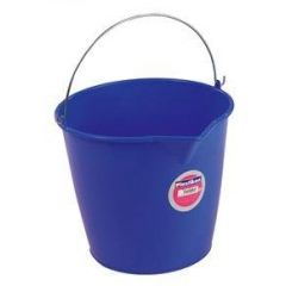 Cubo agua sin escurridor redondo asa metal 13 lt 33x26cm plastico azul tes 6313