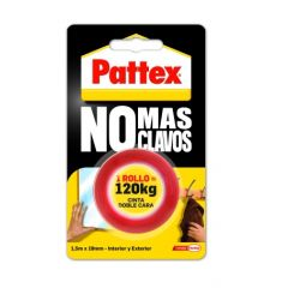 Cinta adhesiva doble cara 19mmx  1,5mt roja no mas clavos pattex 1403701