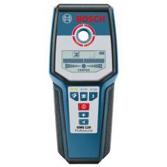 Detector hierro-madera-cable hasta 12cm profundidad gms 120 bosch