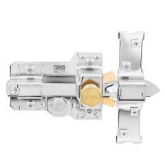 Cerrojo sobreponer bombillo 50mm derecha 115mm niquel 303-t fac 01136