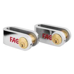 Candado seguridad pletina calibrada 40x10mm cromado 506/50 fac 02304