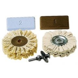 Pulidor herramienta electrica wolfcraft mandril-2 discos-2 pastas 5pz 2179000