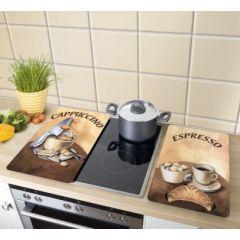Tabla cocina proteccion vitroceramica 30x52cm vidrio café wenko 2521280 2 pz