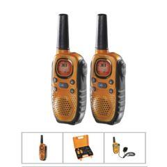 Walkie talkie vigilancia cargador bateria 8 canales 10km alc topcom