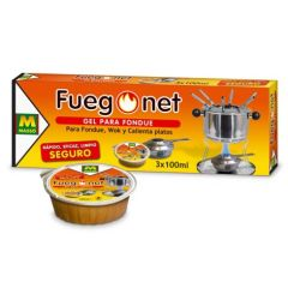 Gel encendedor fondue 3x100 ml fuegonet 231112