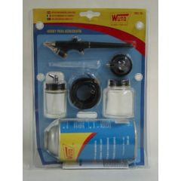 Aerografo compresor hobby kit 6 pz 7902bl wuto