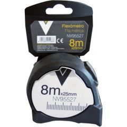 Flexometro medicion 08mt-25,0mm nivel ma con freno metal nv95527