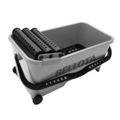 Cubeta alicatador 20 lt bellota ma con ruedas 3 rodillos escurridores+rejilla 5800-3