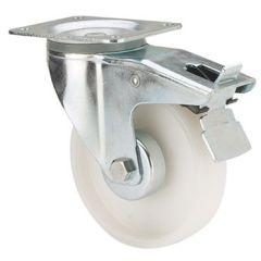 Rueda giratoria con freno platina 150kg 100mm poliamix blanco ruedas alex tw0207