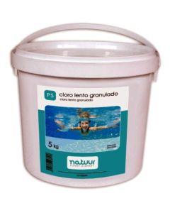 Cloro piscina disolucion lenta granulado natuur 5 kg nt100244
