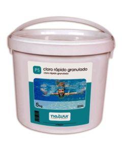 Cloro piscina rapido granulado natuur 5 kg nt100249