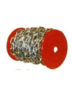 Cadena industrial eslabon recto bobina 15mt 25kg 9mm cincada cadenas ciro