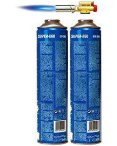 Soplete a gas cartucho piezoelectrico 2 cartuchos easyfire super ego 1000000768