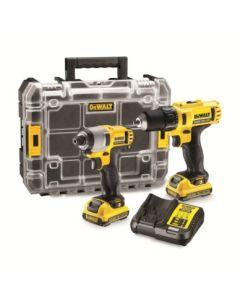 Taladro atornillador 10,8v li 2,0 ah maletin atornillador impacto dck211d2t-qw d