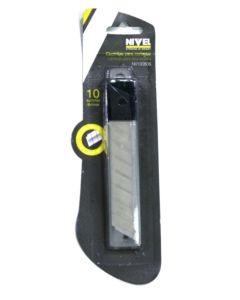 Cuchilla cutter 18mm nivel ma 10 pz nv100805