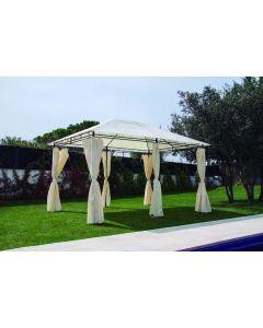 Cenador jardin con cortinas 3x4 mt natuur beige nt102958
