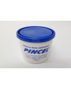 Masilla sanitario blanca 1kg blanca saneaplast