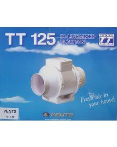 Extractor en linea 125mm plastico blanco tt saneaplast
