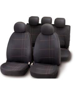 Funda asiento automovil negro/gris embroidery bottari