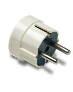 Clavija electricidad 16a-250v lateral 4,8mm/38x48x43 policarbonato blanco famatel 1102