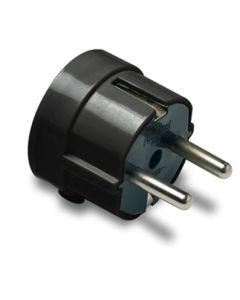 Clavija electricidad 16a-250v lateral 4,8mm/38x48x43 policarbonato negro famatel 1102-n