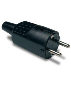 Clavija electricidad 16a-250v tt 4,8mm/30x97x37 goma termoplastica negro famatel 1104