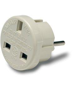 Adaptador electricidad 10a-250v 45x45x45 policarbonato blanco famatel europeo-ingles 1405
