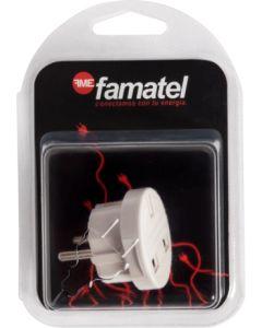 Adaptador electricidad 10a-250v 100x145x55 policarbonato blanco famatel europeo-ingles 14051
