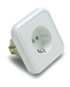 Base electricidad empotrar tt 16a-250v 80x79x45 policarbonato/porcelana blanco famatel 2300