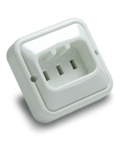 Base electricidad empotrar tt 25a-250v 85x84x57 policarbonato blanco famatel 2308