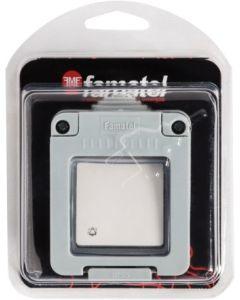 Pulsador timbre superficie 10a-250v estanco 120x160x65 gris abs famatel