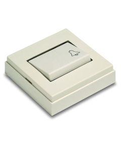 Pulsador timbre 10a-250v 65x65x19 pvc blanco famatel 5010-b