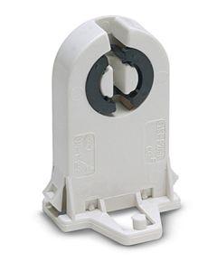 Portalamparas electricidad fluorescencia g13 27x45x23 blanco abs famatel