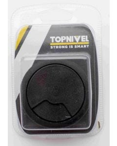 Tapon electricidad pasacable 60mm nivel negro 1 pz nv106197