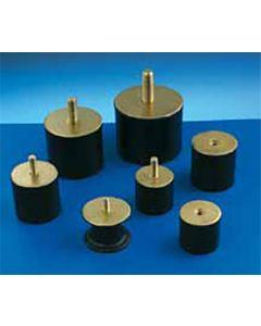 Antivibratorio soporte cilindrico macho 25,5x22mm / m-8 amc 12 pz 120033