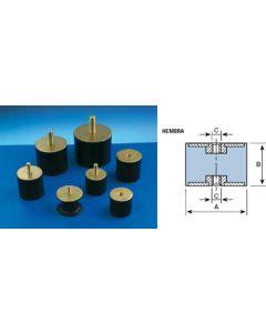 Antivibratorio soporte cilindrico hembra 40x28mm / m-10 amc 8 pz 122052