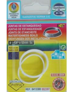 "Junta fontaneria conica 1""1/4x32 goma s&m 2 pz 002397"