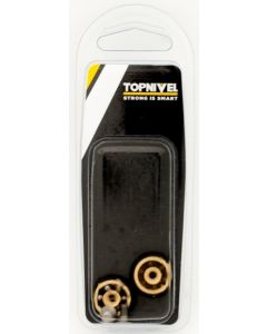 Rueda mampara rodamiento metalico con tornillo 20mm negro nivel 2 pz nv107609