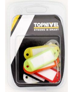 Portaetiqueta llaves 58x22mm plastico surtido nivel 8 pz nv107733