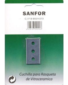 Cuchilla rasqueta vitroceramica 40mm sanfor 5 pz 59004