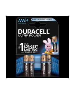Pila alcalina lr03 aaa 1,5v duracell 4 pz 5000394002692