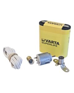 Motor manualidades cable lampara casquillo interruptor kit escolar hepoluz