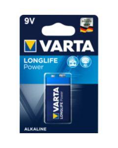 Pila alcalina 6lr61 longlife power varta 9v