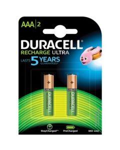 Pila recargable lr03 aaa duracell 1,2v 850mah 2 pz