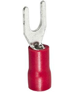 Terminal electricidad faston horquilla 1,5mm rojo hepoluz
