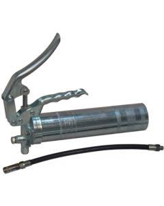 Bomba engrase palanca dos vias salida acoplamiento flexible acero gris lube-shut