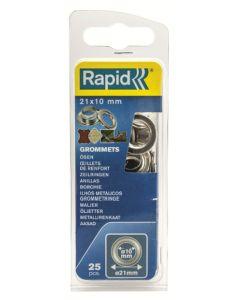 Anilla fijacion lona/plastico/cuero tipo broche 10mm rapid 25 pz 5000412