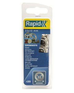 Anilla fijacion lona/plastico/cuero tipo broche 12mm rapid 25 pz 5000413